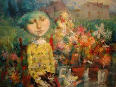 Splashes in the World: The illustrations of Alvaro Reja: dreamlike realism Artist Names, Naive, All Art, Illustrations, Painting, Portrait, Pintura, Painting Art, Paintings