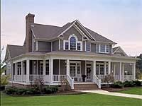 Country Farmhouse with Wrap-around Porch