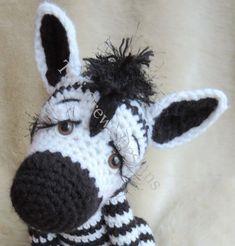 Simply Cute Zebra Crochet Pattern by Teri by TeriCrewsCrochet