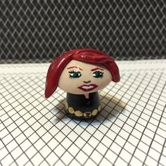 OOAK Marvel Avengers Inspired - Black Widow Natasha Romanov Mini Character Pop Culture 'Shroom - Handpainted Polymer Clay Sculpture by jdsART on Etsy
