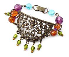 Glimmering Glass bracelet by Jess Italia Lincoln for Vintaj.