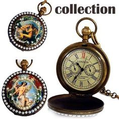 Artistic archaize painting 5-hands mechanical watch NEW freeship
