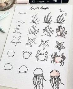 60 doodle tutorials for your Bullet Journal - reb . - 60 doodle tutorials for your Bullet Journal – reb … – - Bullet Journal Notebook, Bullet Journal Ideas Pages, Bullet Journal Inspiration, Bullet Journal 2019, Bullet Journals, Doodle Drawings, Easy Drawings, Simple Doodles, How To Doodles