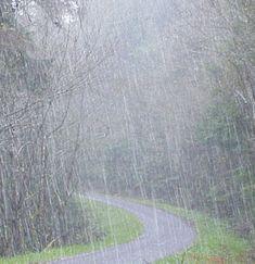 as the rain comes down.