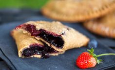 """Vegan Berry Hand Pies: Blackberries, blueberries, strawberries, and raspberries—this recipe for """"hand pies"""" uses them all!"""