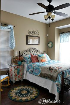 Fan for Bedroom - Fun and funky bohemian style bedroom decor