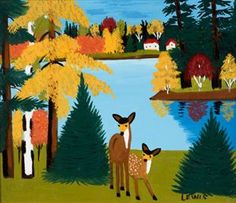 The Joyous World of Overlooked Canadian Folk Artist Maud Lewis Maudie Lewis, Painted Christmas Cards, Grandma Moses, Primitive Painting, First Art, Naive Art, Canadian Artists, Outsider Art, Mellow Yellow