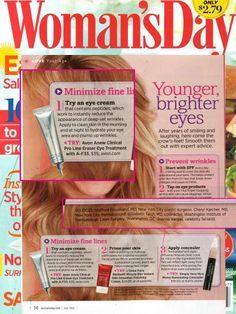 Avon- ANEW CLINICAL Pro Line Eraser Eye Treatment - in Woman's Day www.youravon.com/cbrenda007