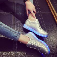 Adams Boy Girl High Top USB Charging American Flag Vamp LED Glowing Shoes Flashing Sneakers