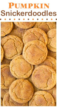 Pumpkin Snickerdoodles - soft, chewy and completely delicious!! #cookies…