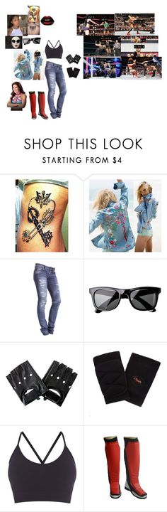 """""""😎 Salvage Rose 😎- Salvage Vs Mickie James"""" by iron-maiden-amy ❤ liked on Polyvore featuring Dr. Denim, H&M, Capezio, Pepper & Mayne, WWE and Carmella"""