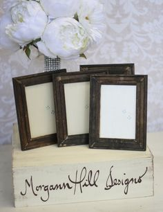 Rustic Wedding Frames Table Number Signs Shabby Chic Decor SET of 6. $41.99, via Etsy.