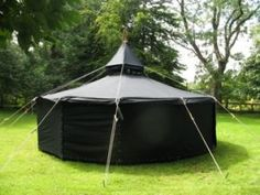 German Black tent, called Jurte. You have absolutely no idea about how great these tents are. They offer endless varying and combining possibilities and can be used every time ofthe year.