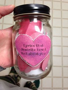 Lyrics that describe how I feel about you Mason Jar | DIY boyfriend gift | Mason Jar DIY | Mason Jar Crafts | Lyrics #Diyboyfriendgifts