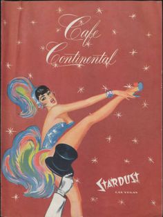 "Cafe Continental menu from the Stardust Hotel and Casino. Featured in the UNLV Libraries ""Menus: The Art of Dining"" digital collection."