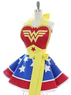 Retro Apron Wonder Woman Sexy Womans Aprons by bambinoamore
