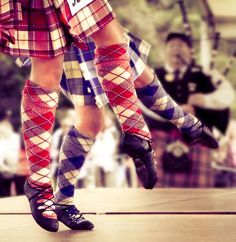 Highland dancers competing at the Highland Games in Inveraray 2011