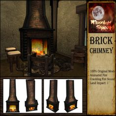 Merchant: Moonlight Shadow Prize Name: Brick Chimney Prize Type: Decor Sunlight, Brick, Fire, The Originals, Decor, Decoration, Sun Light, Bricks, Decorating