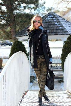 Kristin Sundberg #army #trousers