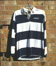 9e50cced190 Nike Dallas Cowboys Polo Style Shirt Long Sleeve Navy & White Cotton  Pullover | Clothing