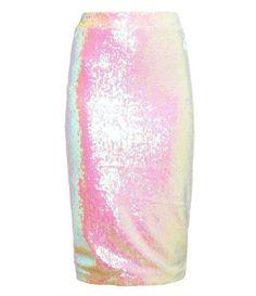 Iridescent Sequin Pencil Skirt