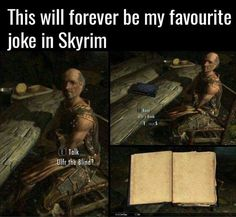 Check out the funniest memes, funny GIFs and hilarious videos that make you laugh out loud in public! Video Game Logic, Video Games Funny, Funny Games, Elder Scrolls Memes, Elder Scrolls Skyrim, Elder Scrolls Online, Funny Gaming Memes, Gamer Humor, Skyrim Funny