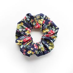 POPPIES and LILIES Hair Scrunchy. Red Poppies and Yellow Lilies. Hair…