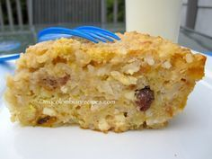 Torta de Pastores (Colombian Cheese and Rice Pudding Cake)