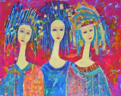 Large giclee print on canvas Big size 80 x 100 cm. by TanabeStudio