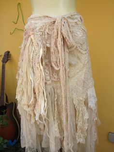 vintage inspired extra shabby cotton wrap by wildskin on Etsy, $115.00