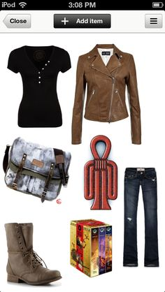 what Sadie wears is what Sadie acts like. Kane Chronicals, Sadie Kane, Rick Riordan Books, Fandom Outfits, Clothes Crafts, Percy Jackson, Combat Boots, Camp Jupiter, Dress Up