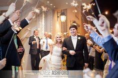 Sparkler Exit || University Methodist Church Wedding || The Hilton Capital Center in Baton Rouge, Louisiana |Photography by Genovese Ashford Studios | Baton Rouge and Houston Wedding Photographer