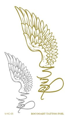 38441eb66bf8 ... Eagle Wings Fake Glitter Metallic Temporary Tattoo Stickers for  Womens-in Temporary Tattoos from Beauty   Health on Aliexpress.com