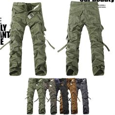 MENS CASUAL MILITARY ARMY CARGO CAMO COMBAT WORK PANTS TROUSERS SIZE 29 38 MF 3609-in Pants from Apparel & Accessories on Aliexpress.com