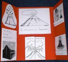 ΗΦΑΙΣΤΕΙΟ - LAPBOOK Planets, Education, School, Classroom Ideas, Earth, Space, Google, Volcanoes, Science