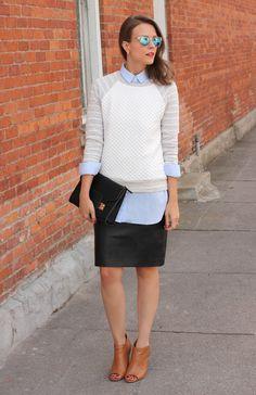 Dressed-up sweatshirt