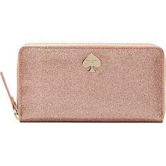 Kate Spade Glitter Bug wallet in rose gold once again shows the perfection of Kate's designs!