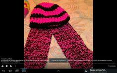 Monster high inspired scarf set