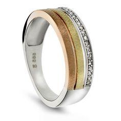 Ring i gull med diamant 0,10 ct WP - Juvelen gullsmed