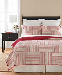 Martha Stewart Collection Bedding, Boxed Stripes Quilts
