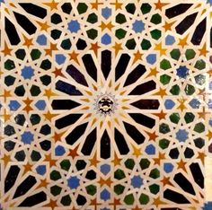 Alhambra tile Granada, Spain