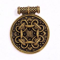 Viking amulet replica after an original pendant from Hedeby with filigree granulation. Available on ETSY by Pera Peris - The House of History