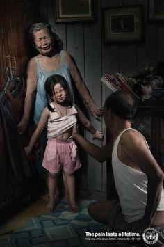 El dolor dura toda la vida. NO al Abuso Sexual Infantil
