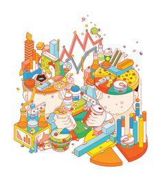 Cover Illustration for Inspire Magazine #subwayClient / Inspire Magazine 意念圖誌 / Taipei, Taiwan---Cover & Inside Illustrations for CSP Magazine2016 Category Management Handbook   April 2016---Client / CSP Magazine / WinsightArt Director / Nico Heins…