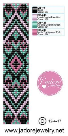 "Miyuki delica weefarmband ""Bead bracelet pattern from Laura"", ""Like the pattern"""
