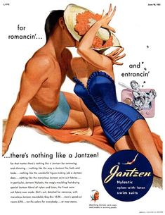 Pin up- Jantzen, 1951 Illustration by Pete Hawley Retro Advertising, Retro Ads, Vintage Advertisements, 1950s Ads, Retro Robot, Advertising Signs, Advertising Campaign, 1940s, Pub Vintage