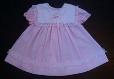 Vtg Style Bright Future Baby Girl Dress 6-9M Light Pink Square Collar Lace  #BrightFuture #EasterDressy