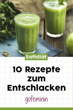 Diese Saftdiät hat es in sich: 10 Saft-Rezepte zum Entschlacken Abn… This juice diet has it all: 10 juice recipes to detoxify Lose weight with a juice diet? Here are 10 brilliant recipes to purify! Week Detox Diet, Detox Diet Drinks, Natural Detox Drinks, Detox Diet Plan, Smoothie Detox, Cleanse Detox, Stomach Cleanse, Natural Cleanse, Detox Juices