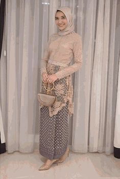 Good for engagement - Hijab+ Kebaya Muslim, Kebaya Modern Hijab, Kebaya Hijab, Muslim Dress, Kebaya Lace, Kebaya Dress, Batik Kebaya, Batik Dress, Muslim Fashion