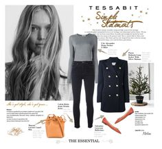 """""""The Essential"""" by thewondersoffashion ❤ liked on Polyvore featuring T By Alexander Wang, Calvin Klein Jeans, Valentino, Pierre Balmain and Mansur Gavriel"""